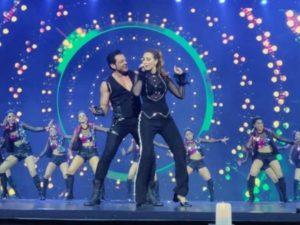 Bobby Deol and Iulia Vantur performs at NEXA IIFA Awards Styled by Myntra